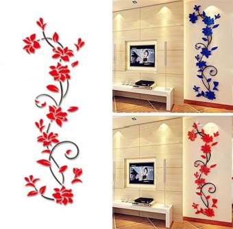 DIY 3D acrylic Modern Flower Decal Art Mural Wall Sticker Home Decoration - intl - 2