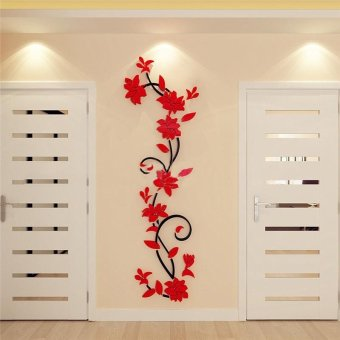 DIY 3D acrylic Modern Flower Decal Art Mural Wall Sticker Home Decoration - intl
