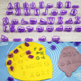 DIY 40pcs plastic New style lettered with numbers cake mold