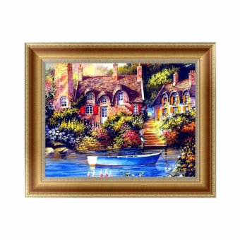 DIY 5D Diamond Embroidery Painting Cross Stitch Art Craft HomeOffice Decor X142 (40x30cm) - intl