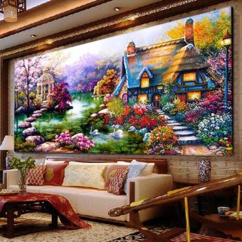 DIY 5D Diamond mosaic Landscapes Garden lodge Painting Cross StitchKits Diamonds Embroidery Home Decoration - intl