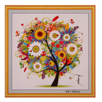 DIY Colorful Four Season Tree Counted Cross Stitch Kit EmbroiderySummer