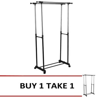 DIY Double Pole Clothes Rack Buy 1 Take 1