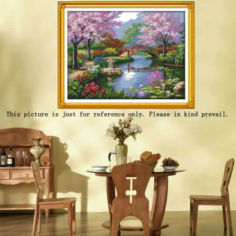 DIY Handmade Needlework Counted Cross Stitch Set Embroidery Kit14CT Beautiful Scenery of Park Pattern Cross-Stitching 57 * 45cmHome Decoration (Intl) Price Philippines