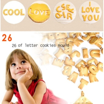 DIY Letter Cookie Mold Mini Cutter Stainless Steel Decorating KitDessert Fondant Cake Biscuit Fruit Play-Doh Arts Crssafts 26PCS -intl - 4