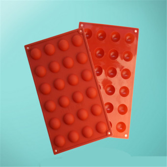 DIY Silicone Cake Circle Shape Chocolate Mold (Red) - Intl Price Philippines