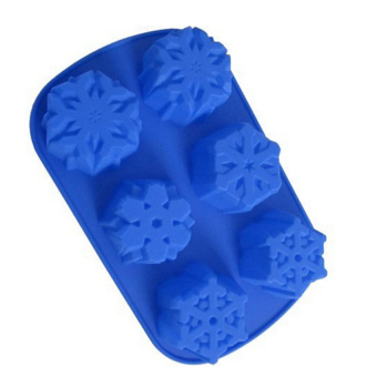 DIY Silicone Christmas Snowflakes Moon Cake Chocolate Mold (Blue) Price Philippines