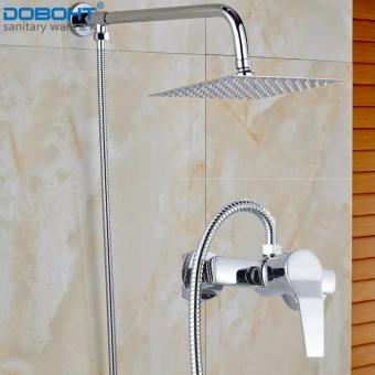 DOBOHT Bathroom Home Shower Set with 2 Function Faucet 8 inchStainless Steel Shower Head and Shower Arms and 1.5M Hose(Chrome) -intl Price Philippines