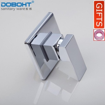 DOBOHT Wall Mount Brass Hot and Cold Shower Mixer Faucet BathtubShower Water Tap Brass Bathroom Sink Faucet Basin Mixer Tap Body(Chrome) - intl
