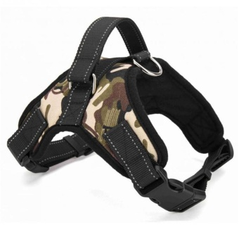 Dog Harness Adjustable Pet Dog Big Exit Harness Vest Collar Strapfor Small and Large Dogs Pitbulls - Camouflage(L) - intl