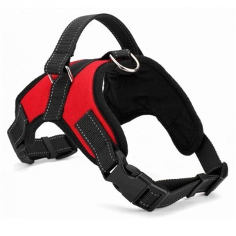 Dog Harness Adjustable Pet Dog Big Exit Harness Vest Collar Strapfor Small and Large Dogs Pitbulls - Red (XL) - intl