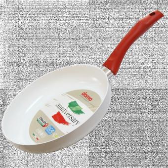 domo nonstick ceramic fry pan 24cmwhite - Ceramic Frying Pan