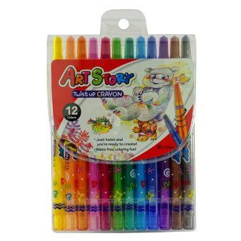 Dong-A Crown Korea Twist Up Crayons 12 colors