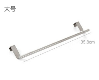 Door back-rag rack stainless steel single pole towel rack