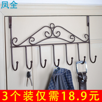 Door back-traceless hanger adhesive hook