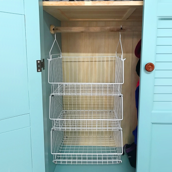 Dormitory storage hanging bag hanging-storage rack