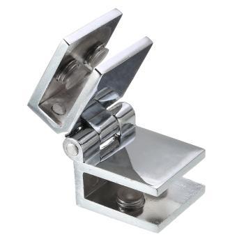 Double Action 180 Degree Glass Door Cupboard Cabinet Clamp Hinge For 5-8mm Glass - intl - 2