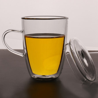 Double Layer Heat Resistant insulated glass cup mug