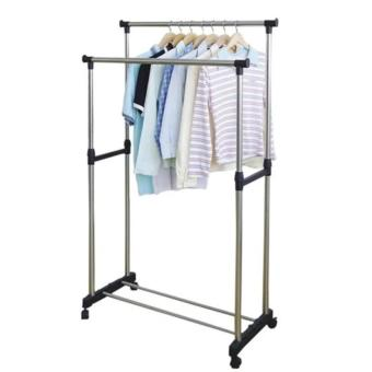 Double Pole Clothes Rack For Dry Clothes