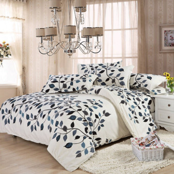 Double Size Quilt Duvet Cover Pillow Case Bedding Bedclothes Set
