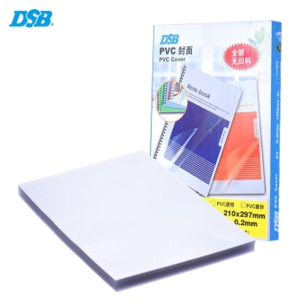 DSB 100 Sheets Frosted A4 PVC Binding Presentation Cover 0.2mmTransparent School Office Supply Stationary for Book Document File- intl