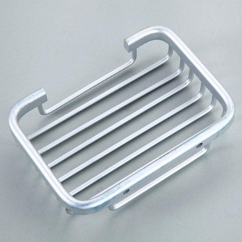 DSstyles Aluminum Soap Dish Bathroom Shower Toilet Soap HolderSaver Basket Wall Mounted - intl - 2