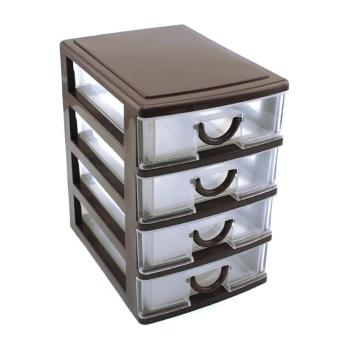 Durable Plastic Office Table Desktop Drawer Style Holder StorageBox size:4 Drawers - intl