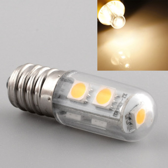 E14 7LED 5050SMD 1W/220V Candle Light Lamp Home Fridge Bed Corn Bulb Warm White