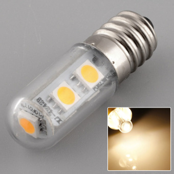 E14 7LED 5050SMD 1W/220V Candle Light Lamp Home Fridge Bed Corn Bulb Warm White - 4