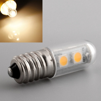 E14 7LED 5050SMD 1W/220V Candle Light Lamp Home Fridge Bed Corn Bulb Warm White - 2