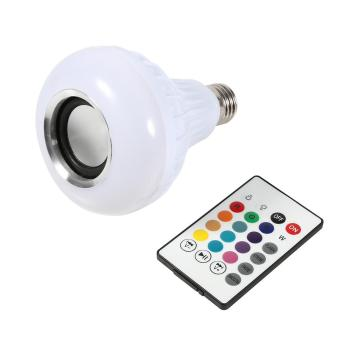 E27 12W LED RGB Bluetooth Speaker Bulb Wireless Music Playing Light with Remote Control - intl