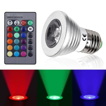 E27 RGB LED Bulb Color Changeable LED Spotlight Christmas Decor Magic Holiday RGB Lighting With IR Remote - intl