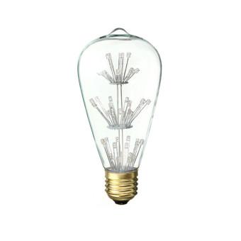 E27 ST64 3W Vintage Antique Edison Style Carbon Filamnet Clear Glass Bulb - picture 2