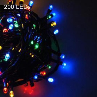 Eachgo 12m 200 LED Solar Power Strings Light Waterproof Outdoor Christmas/ Wedding/ Party Decoration - intl