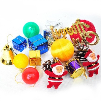 Eachgo 15PCS Hanging Decoration Presents Ornaments For Christmas Tree Christmas Xmas Home Bar Decor - intl