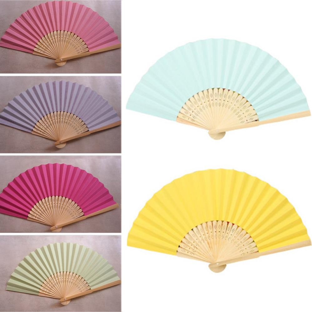 Philippines | Eachgo 1PCS Chinese Style Candy Color Bamboo Foldable ...