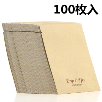 Ear hand punch coffee filter paper outside the bag coffee bag