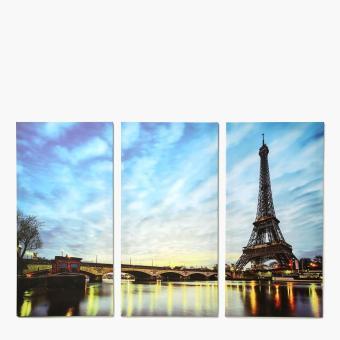 Easy Art Triptych 3-piece City of Paris Premium Canvas Art