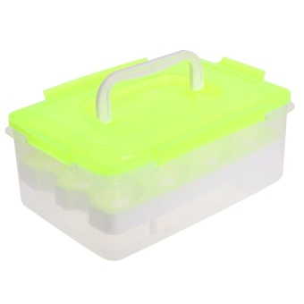 Egg Tray Folding Portable Plastic 24 Eggs Container Holder - intl