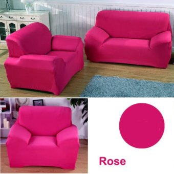 Elasticity Sofa Covers 1 Seats Couch Cover Chair ProtectorsSlipcovers Rose red