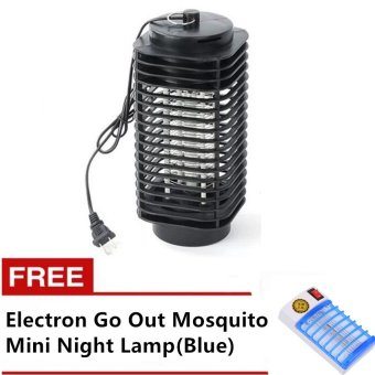 Electric Mosquito Night Lamp (Black) with FREE Electron Go OutMosquito Mini Night Lamp(Blue)