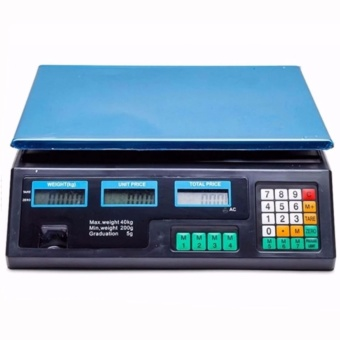 Electronic Digital Price Computing Platform Scale ACS-30 200g to 30Kg(Black)
