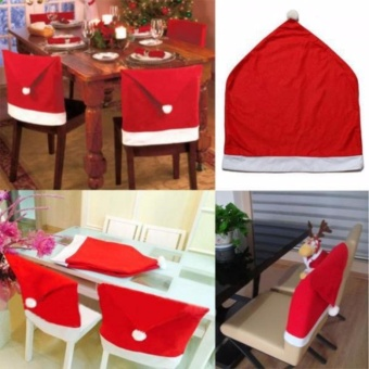 Elegant Christmas Decor Santa Hat Chair Cover 1pc Price Philippines