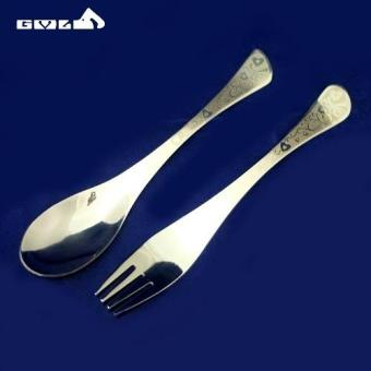 Elegant Stainless Fork Spoon Tableware Chopstick Set - picture 2