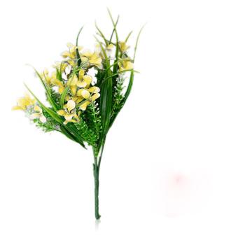 ELENXS 2 pcs Artificial Gladiolus Flower (Yellow)