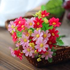 Elife 1 Bouquet 28 Heads Plastic Home Wedding Decor Dedicated Trendy Fake Daisy Silk Flower -