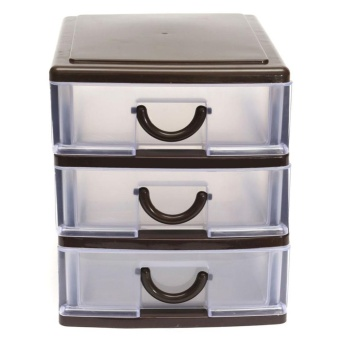Elife PP Plastic Desktop Cosmetics Jewelry Watch Organizer Holder Box Storage Case Drawer ( #5 ) - intl