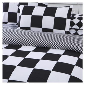 Elite 3 Piece Bedding Sets / Bedsheet (Checkered Design) - Single - 3