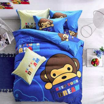 Elite 3 Piece Bedding Sets / Bedsheet ( Happy Monkey ) - Single