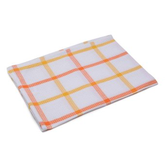 Emperor Collection Checkered Dish Towel (Orange)